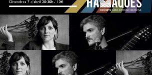 "7 DE ABRIL· Festival Hamaques-Barnasants· Sabina Witt & Manel Fortià ""Crisàlides"". 20:30h"