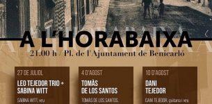 July 27 – Leo Tejedor trio+Sabina Witt – ( Benicarló) – 21h