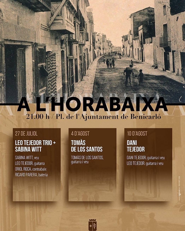 27 de juliol – Leo Tejedor trio+Sabina Witt – ( Benicarló) – 21h