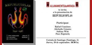 September 28-Presentación del librisco Republicoplas (Granada)-20,30h