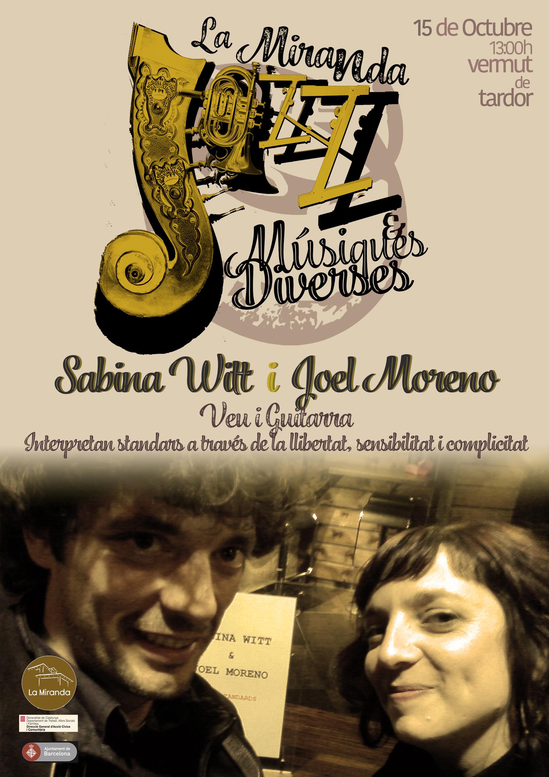 15 d'octubre- Sabina Witt & Joel Moreno- La Miranda (Bcn)- 13h.