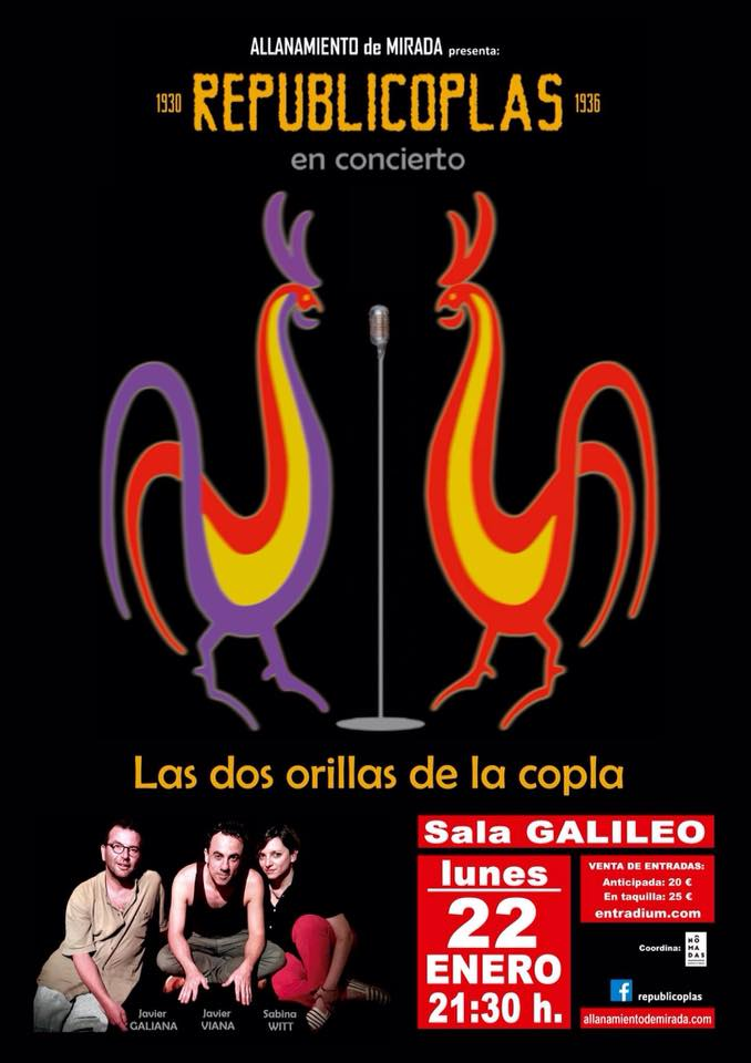 January 22- Republicoplas- Sala Galileo Galilei (Madrid)- 21:30hs.