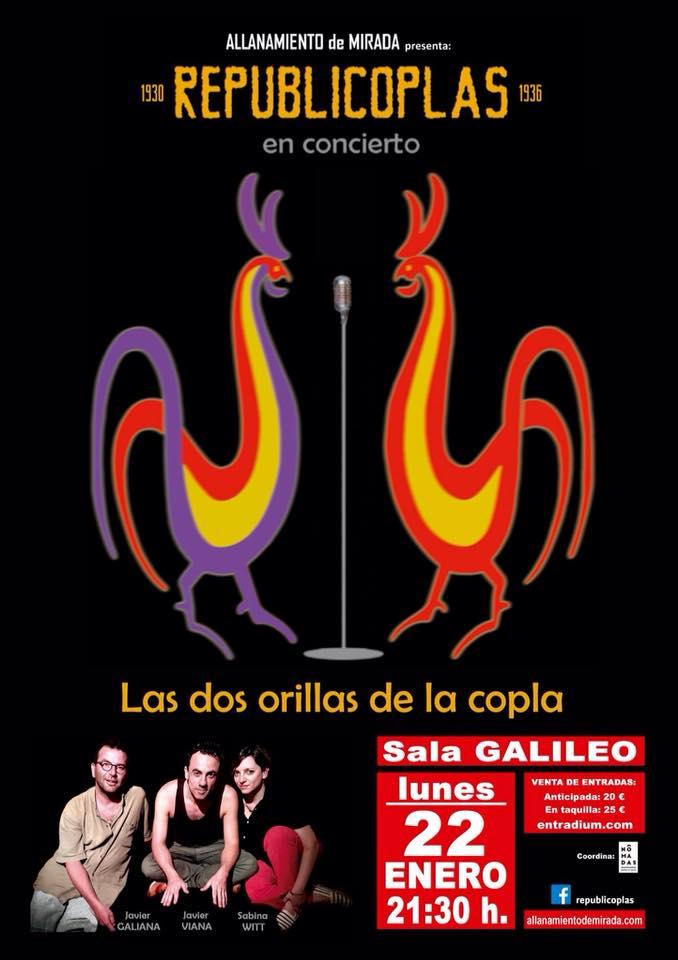 22 de enero- Republicoplas- Sala Galileo Galilei (Madrid)- 21:30hs.
