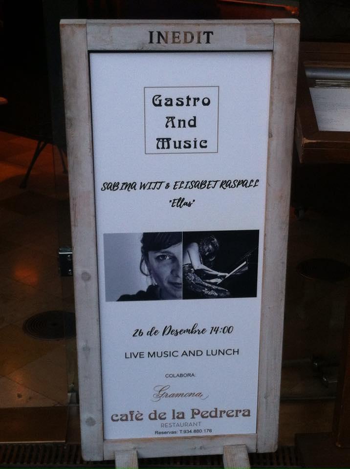 "Desember 26- Sabina Witt & Elisabet Raspall ""Ellas""- Café de La Pedrera (Bcn)- 14h."