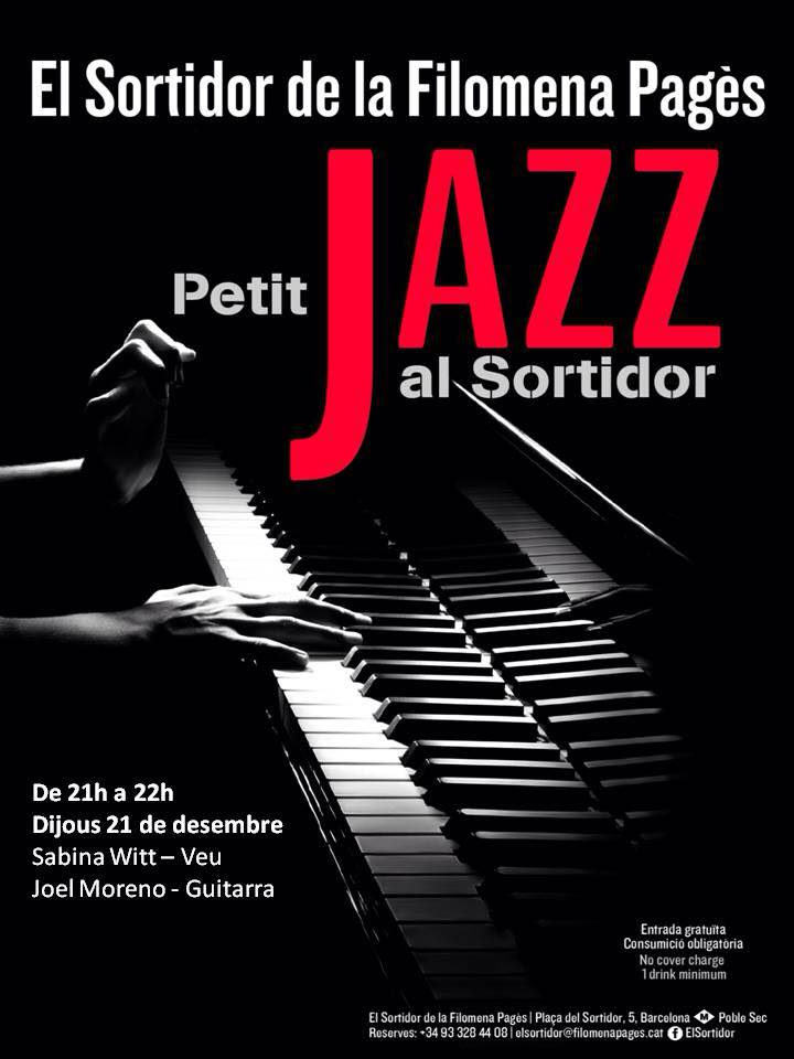 December 21- Sabina Witt & Joel Moreno- Jazz al Sortidor (Bcn)- 21h
