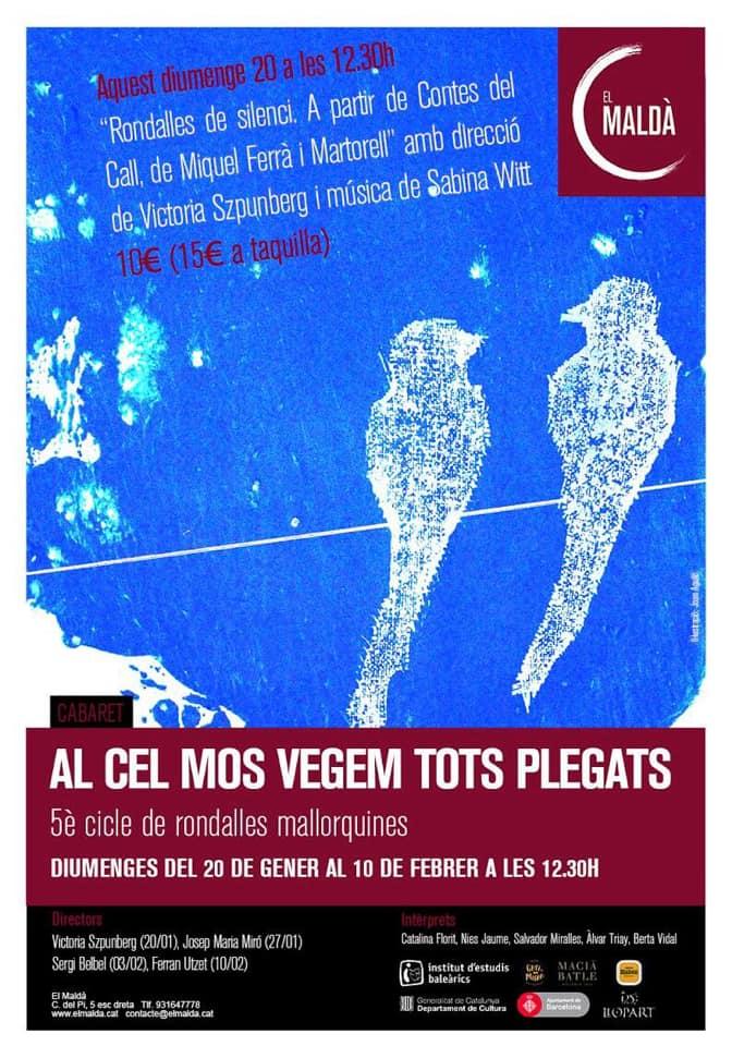 20 de enero- Al cel nos vegem tots plegats- Teatre maldà- 12:30h