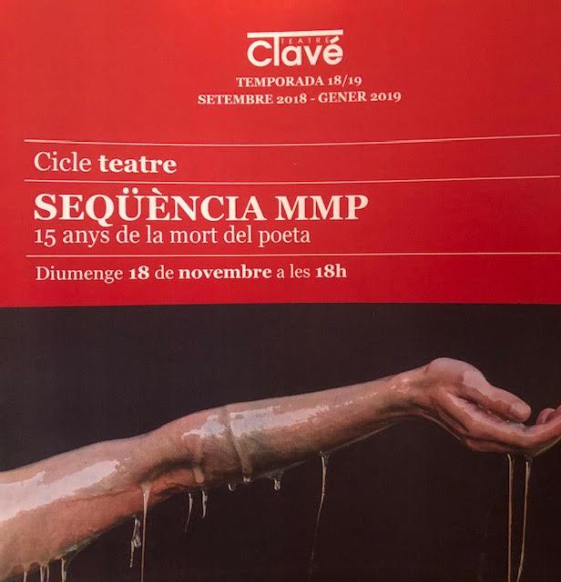 18 de noviembre- Seqüència MMP- Teatre Clavé (Tordera)- 18h