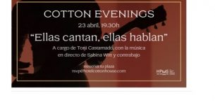 April 23- Sabina Witt- Cotton Hotel (Bcn)- 19h
